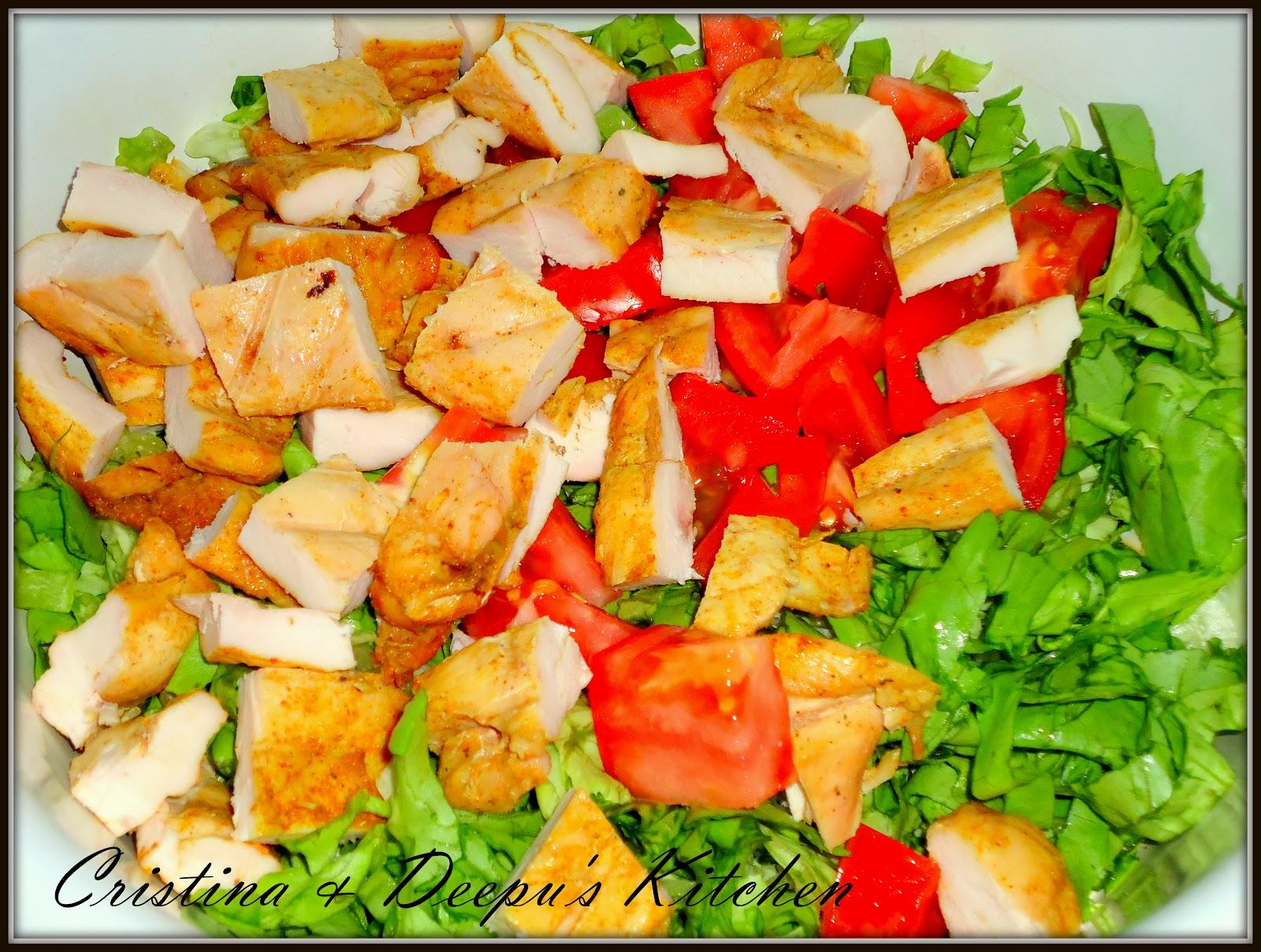 Salata de fasole verde cu pui 1